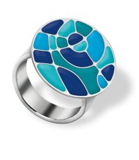 JRS047-9 Shades Of Blue Ring
