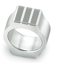 JRM021-10 Shake Up Grey Ring